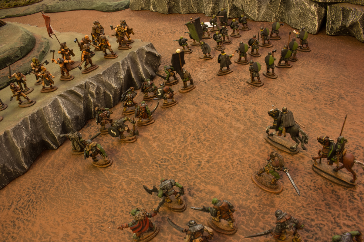 Vaak's orcs challenged the berserks.