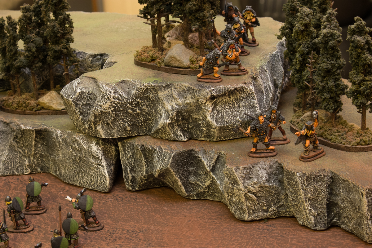 The ulfhednar ran through the woods and wrappped behind the slower League infantry.