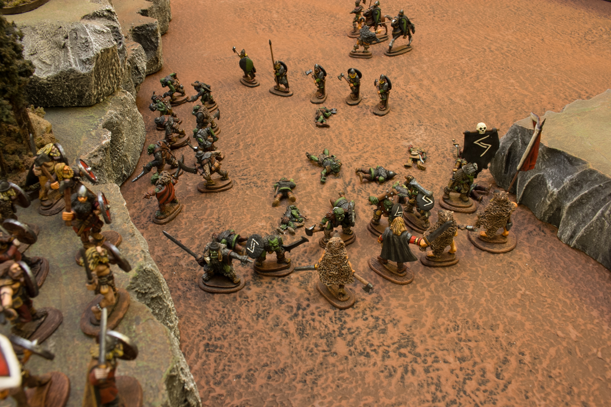 The last smerdi was slain, and Vaak's orcs crashed into the melee against Valgar.