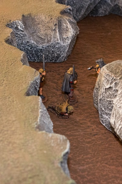 Melkor warded off the axe-blows and Aedelfrid stabbed the last bandit.